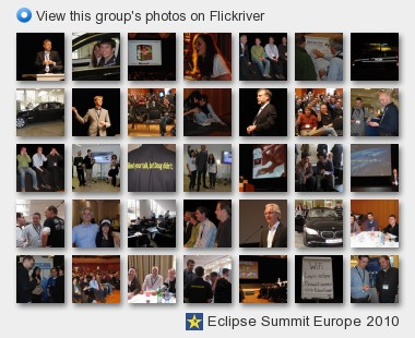 Eclipse Summit Europe 2010 - View this group's photos on Flickriver