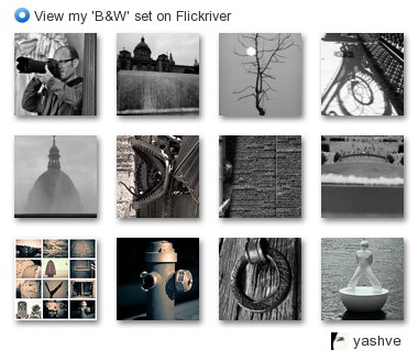 yashve - View my 'B&W' set on Flickriver