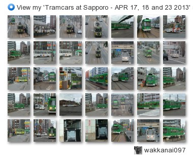 wakkanai097 - View my 'Tramcars at Sapporo - APR 17, 18 and 23 2013' set on Flickriver