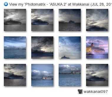 wakkanai097 - View my 'Photomatrix - 'ASUKA 2' at Wakkanai (JUL 28, 2013)' set on Flickriver